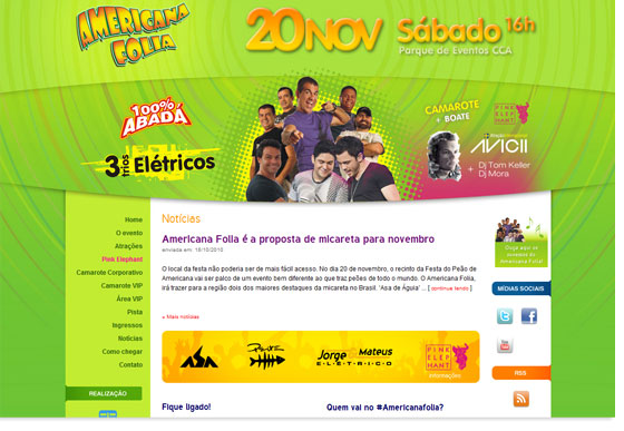 Website Americana Folia